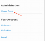 Click Manage Events on the Administration menu