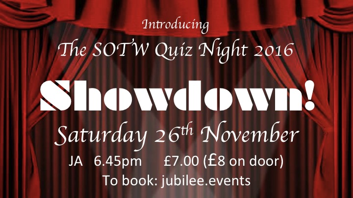 SHOWDOWN! The School of The Word Quiz Night 2016